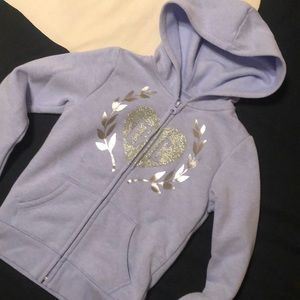 Children's Place Blue Silver Hooded Sweats…